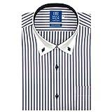 BRICK HOUSE 新体型 半袖 ワイシャツ クレリック ボタンダウン BM017202AB45B4A-10 ブルー 40(半袖)