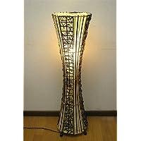 バンブーと布のスリムランプ H.100cmx直径約28cm アジアン雑貨