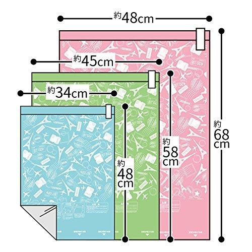 衣類圧縮袋 消臭プラス 3枚 M、L、LL各1枚入