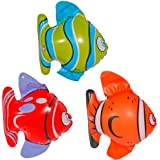 Party Inflatable Fishes By 3 - Animals Mega Selection Deco