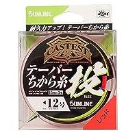 サンライン(SUNLINE) ナイロンライン CASTEST テーパー力糸投 75m #4-12 レッド