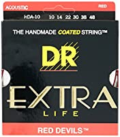 DR EXTRA-Life RED DEVILS アコースティックギター弦 DR-RDA10