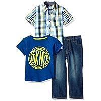 DKNY Boys Sport Shirt, Knit Shirt and Pant Set Pants Set