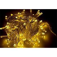 DMFU10m100球LEDイルミネーションLEDライト LEDストリングライトLEDクリスマスライト点灯8パターン?コントローラ付 (シャンパンゴールド)