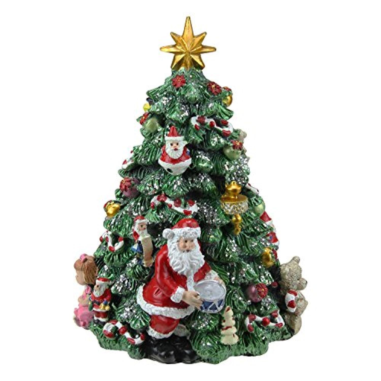 Northlight 6.25インチ 音楽回転 クリスマスツリーオルゴール