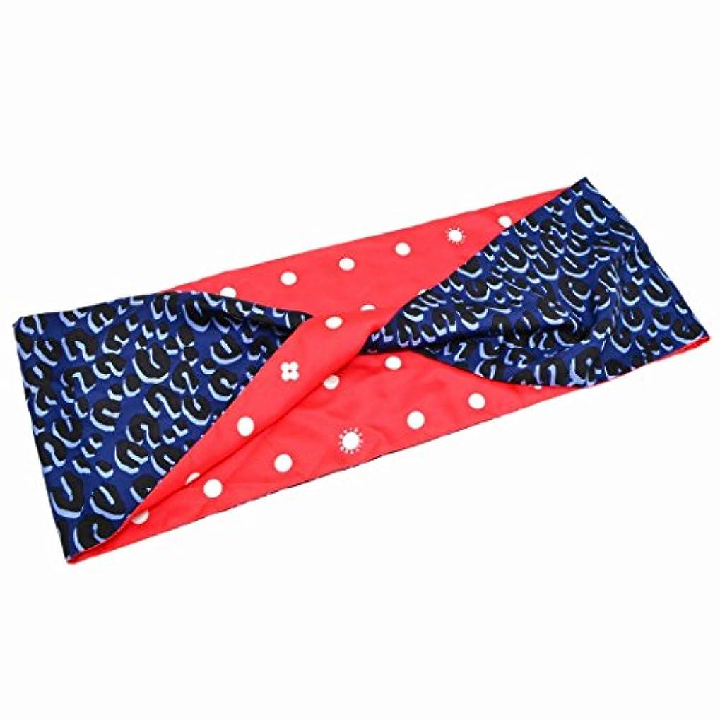 うがいバレーボール打倒ルイヴィトン LOUIS VUITTON レオパード ドット リバーシブル スヌード スカーフ シルク 絹 バイカラー ブルー レッド 青 赤 中古
