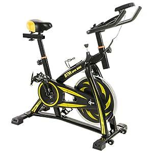 BTM(ビーティーエム) スピンバイク フィットネス エクササイズバイク MS036810 本格トレーニング (ブラック&イエロー')