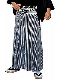 縞袴 [馬乗り型]  はかま 袴 着物 きもの 成人式 メンズ 男性 紳士 舞踊