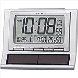 セイコー ハイブリッドソーラー電波目覚まし時計 【おき型 置型 卓上 せいこー デジタル seiko カレンダー アラーム 電波時計 温度 湿度 温湿度 ソーラー F7106-07】