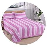 寝具コットンスリーピース古い粗布綿シートマット平織り綿マット,花色号06,幅200cm×長さ230cm + 2枕カバー