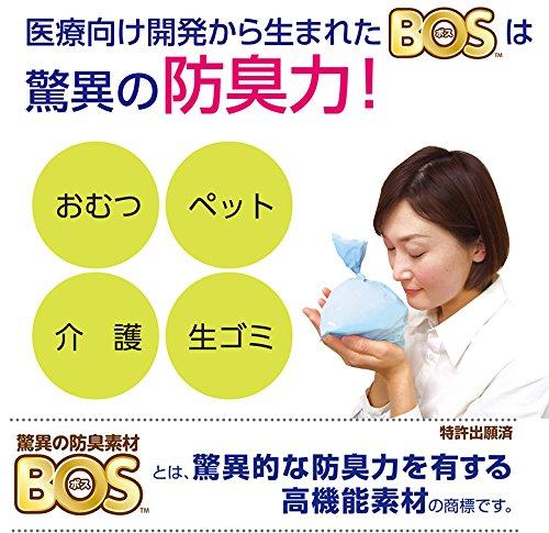 驚異の防臭袋 BOS (ボス) うんちが臭わない袋 SSサイズ大容量200枚入 猫用うんち処理袋【袋カラー:ブルー】
