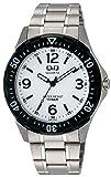 [シチズン キューアンドキュー]CITIZEN Q&Q 腕時計 ステンレスモデル アナログ ブレスレット 10気圧防水 ホワイト W376-204 メンズ