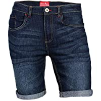 westAce New Mens Denim Shorts Super Flex Slim Fit Stretch Chino Half Pants Jeans Shorts