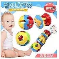 rytetg 3個かわいい赤ちゃんキッズカラフルな教育Grasping Rattle Handbell Toys
