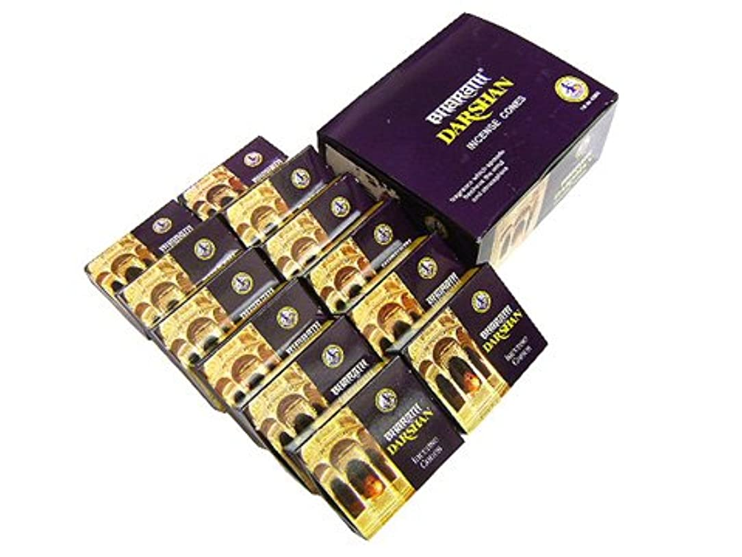 クリープピザ絡まるASOKA TRADING(アショーカ トレーディング) バハラットダルシャン香コーンタイプ TRADING BHARATH DARSHAN CORN 12箱セット