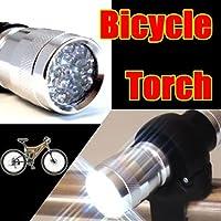 2Way 14LED サイクル&ハンドライト LEDライト採用で十分な明るさ