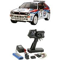 【セット商品】 タミヤ 1/10 電動RCカーシリーズ No.570 ランチア デルタ インテグラーレ + ファインスペック 2.4G 電動RCドライブセット
