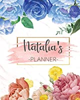 Natalia's Planner: Monthly Planner 3 Years January - December 2020-2022 | Monthly View | Calendar Views Floral Cover - Sunday start