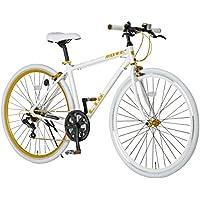 LIG(リグ) クロスバイク 700C シマノ6段変速[サムシフター] 前輪クイックリリース 前後キャリパーブレーキ LIG MOVE 【ブラック/ホワイト】