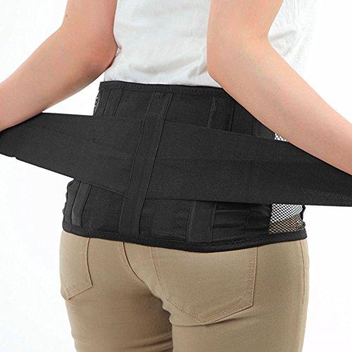 Dr.Q 腰痛ベルト サポートプロ しっかり加圧タイプ 大きいサイズあり 取り外し可能 樹脂ボーン 4本配置 (S(55-75cm))
