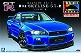 青島文化教材社 1/24プリペイントモデルシリーズNo.31R34 スカイライン GT-R V-SpecII ベイサイド ブルー