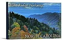 Blue Ridge Parkway–North Carolina–Greatスモーク山 18 x 12 Gallery Canvas LANT-3P-SC-86414-12x18