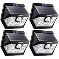 Mpow センサーライト ソーラーライト 30LED 3つ点灯モード 屋外照明 人感ライト IP65防水 センサー時間30s 太陽光発電 自動点灯 防犯ライト 玄関 庭 駐車場 4個セット 18ヶ月間安心保証 停電緊急対策 防災ライト