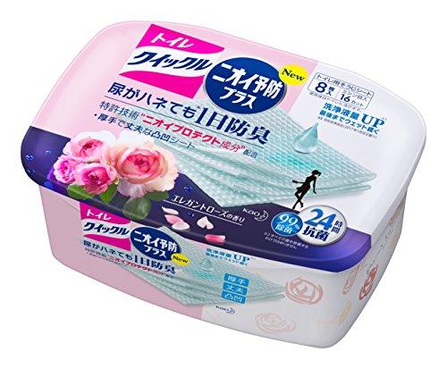 トイレクイックル トイレ用洗剤 ニオイ予防プラス ローズ容器入 8枚