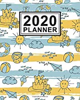 2020 Planner: Beach Daily Weekly Monthly Calendar 2020 Planner  | January 2020 to December 2020