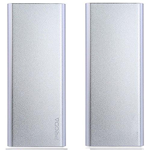 TSUNEO 12000mAh 超大容量 モバイルバッテリー 11mm極薄型 軽量 スマホ充電器 ミニウム合金 iphone充電器 (シルバー)