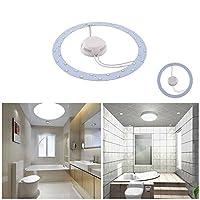 GLADLE 18W 5730SMD LEDパネル天井照明器具円環形ラウンド交換ボード電球(ピュアホワイト)