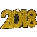 2018新しい年のPinataブラック&ゴールドカラー