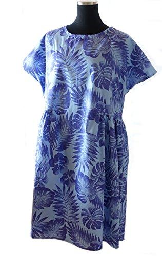 Y's Moe どうしようもなく暑くなったら着る ハワイアン アッパパ サマー モンステラ ブルー