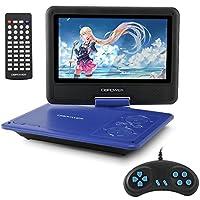 ポータブルDVDプレーヤー 9.5型 DBPOWER ゲーム機能搭載 270度回転 リージョンフリー CPRM対応 TVと同期可能 SD/MS/MMCカード/USBに対応 24月保証 日本語説明書付属 ブルー