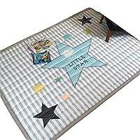 Infant Shining ベビープレイマット 純綿 子供のゲームパッド ベビーマット 厚い 手洗い可能 140CM*200CM (140cm*200cm*2.5cm, Star)