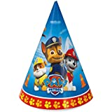 Paw Patrol birthday party supplies 8 pack cone party hats
