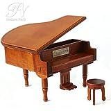 Nature Park 君をのせて ミニ オルゴール ピアノ 宝石箱 木製 アンティーク プレゼント 音楽 恋人誕生日 ギフト最適