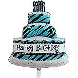 アルミバルーン 誕生日 特大 豪華 風船 アルミ風船 パーティー 装飾 バルーン 三層ケーキ風船 誕生日 バースデー お祝い 装飾