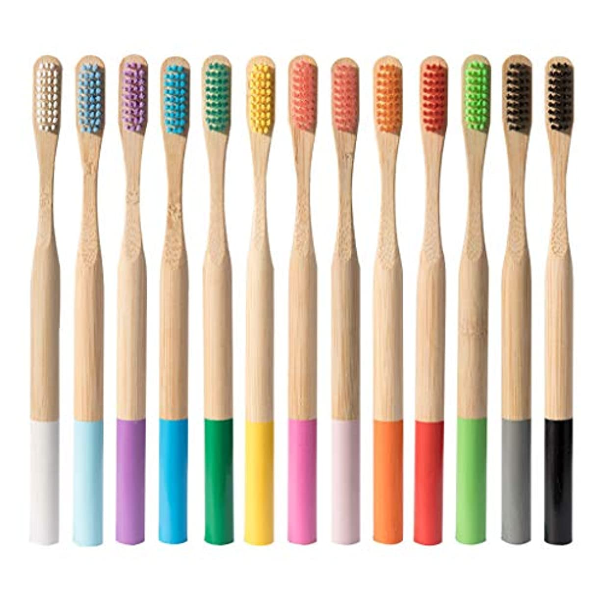 安定しました信条変換Dream ハブラシ 大人用竹の歯ブラシ 歯ブラシ 天然木 環境保護 柔らかい (多色)