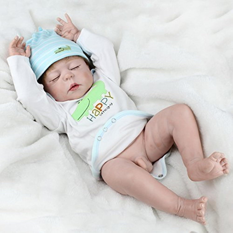 ベビードール シリコン フルボディ 防水 赤ちゃん 男の子 再現人形 正確 おやすみ用人形 23インチ