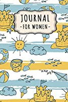 Journal Notebook for Women: Beach Lined Daily 6x9 Journal / Notebook for Women | 109 Pages
