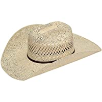 Twister Mens Twisted Weave Straw Cowboy Hat 7 Natural