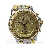 TAG HEUER(タグホイヤー)セルシリーズ クロノグラフ プロフェッショナル200M メンズ腕時計 SS×GP シルバー×ゴールド/ゴールド文字盤 CG1121-0 [中古]