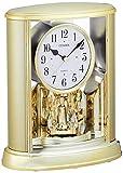 シチズン 置き時計 アナログ サルーン 金色 CITIZEN 4SG724-018