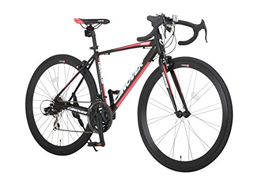 CANOVER(カノーバー) ロードバイク 700C シマノ21段変速 CAR-015(UARNOS) アルミフレーム フロントLEDライト付 マットブラック