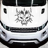 ステッカー/バンパーステッカー - バンパーステッカー「モンスタースカル」60cm x 58cm 金属グラファイト - 車のリアウィンドウ調整 - カースタイリング