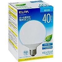 ELPA ボール球形蛍光ランプ 40W形 口金直径26mm 昼光色 EFG10ED/8-G041H