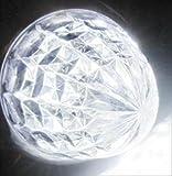 高輝度 16連 LED クリスタル 8面 カット トラック バス サイドマーカー ランプ 10個 セット 24V 車 専用 防水 加工 選べる カラー 色 (07: 白 4個 セット)