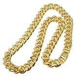 喜平 ネックレス ゴールド金10mm太幅50cm/喜平チェーン ゴールド キヘイ24Kコーティング合金