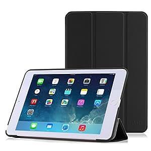 iPad Mini 3 /2 /1 ケース - ATiC Apple iPad Mini3 (2014)/ Mini2 (2013)/ Mini (2012)タブレット専用開閉式三つ折薄型スタンドケース BLACK (オートスリープ機能付き)(iPad mini 4に適応ない)
